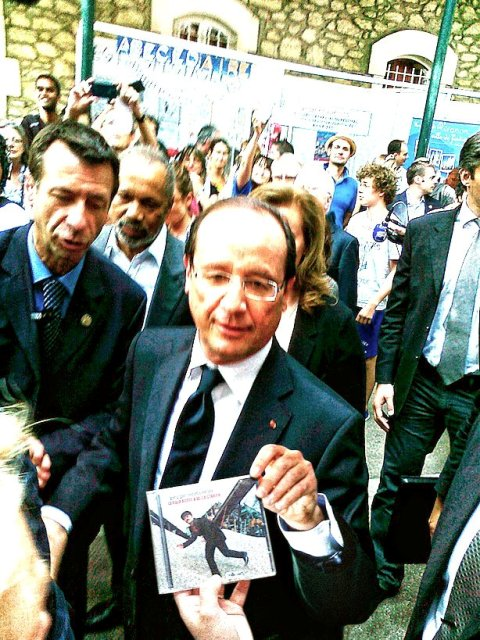 Hollande con cd Voltarelli