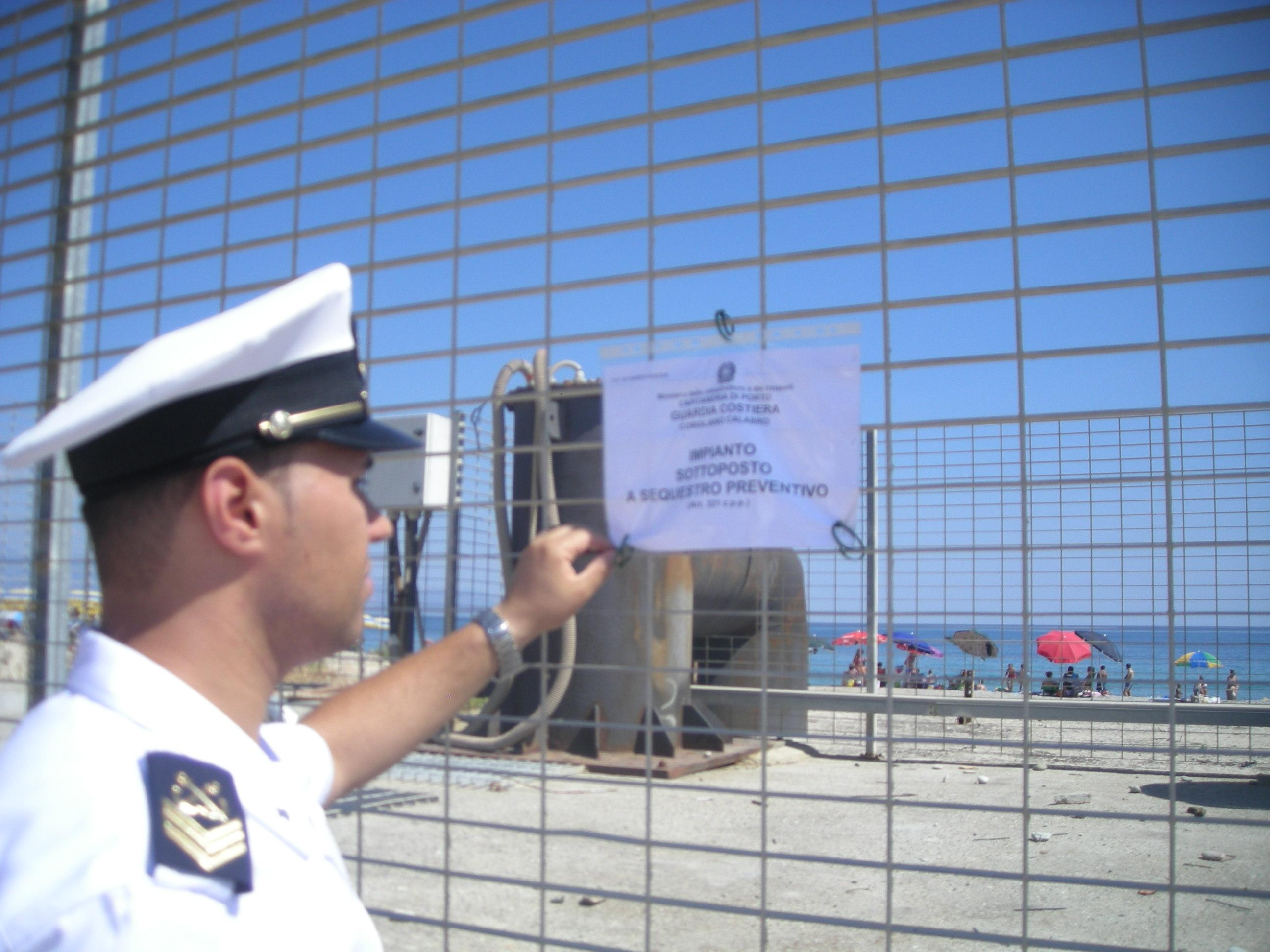 guardia costiera sequestri a Corigliano
