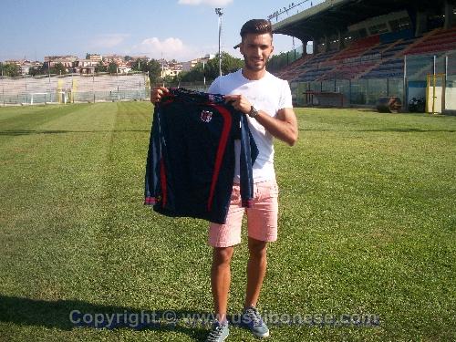 Il neo-acquisto Antonio Lombardi.   Fonte: ( U.S Vibonese Calcio - Sito Ufficiale)