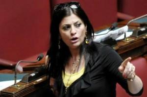 13/06/2012 Roma, discussione e voto di fiducia sui maxi emendamenti al disegno di legge anti corruzione. Nella foto la relatrice del testo Iole Santelli