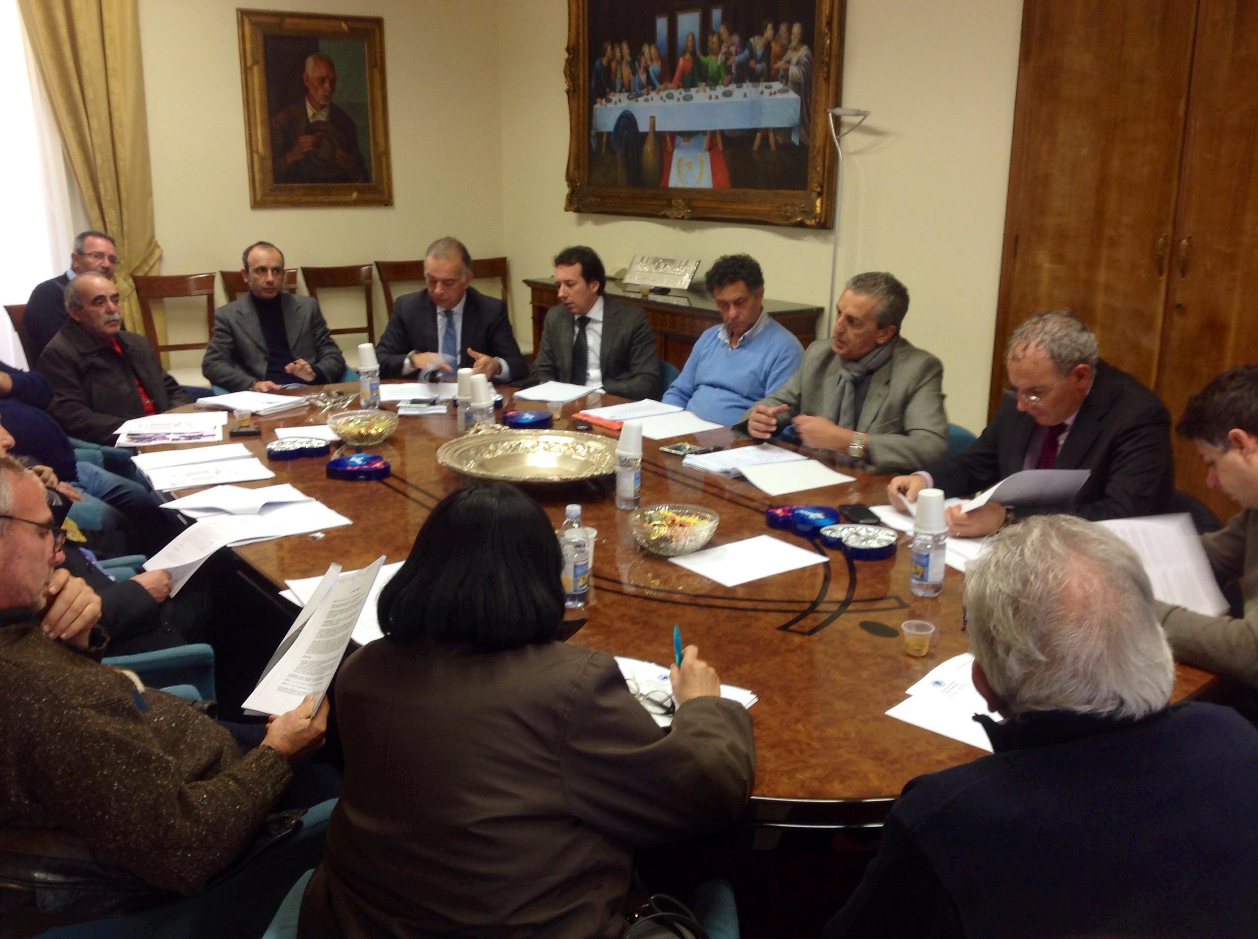 Una fase della riunione del Consiglio dei Delegati