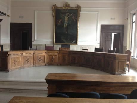 Catanzaro: aula della Corte d'appello