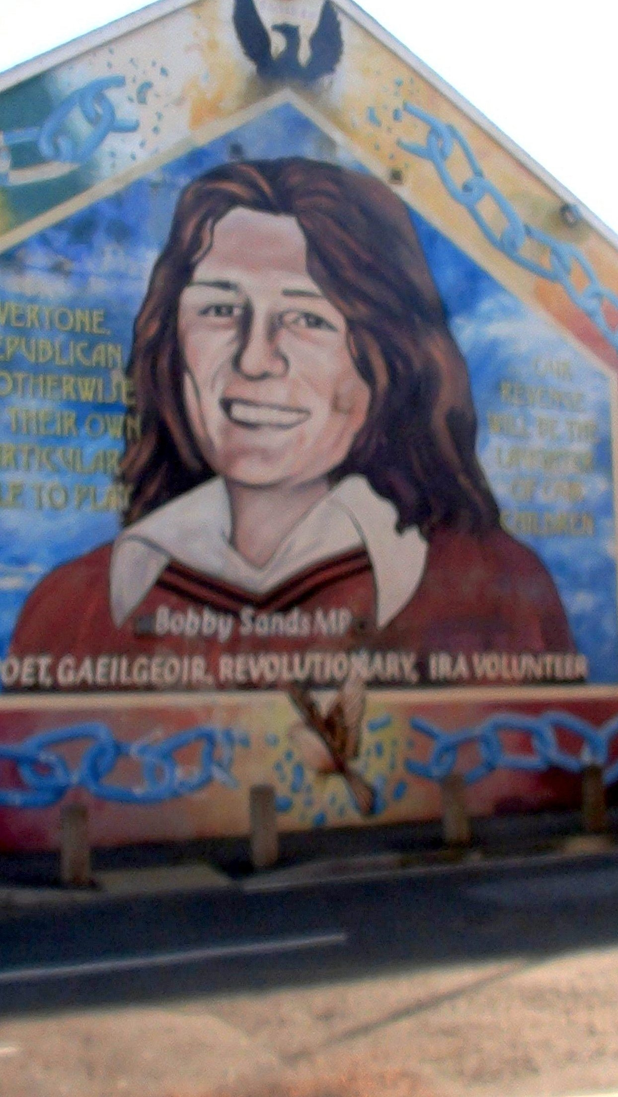 Murale di Bobby Sands, simbolo di Belfast