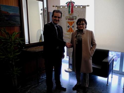 Il presidente Bruno e il prefetto Latella