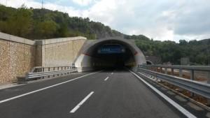 Autostrada A3 Salerno-Reggio Calabria: galleria Renazza realizzata dall'Anas a Lagonegro (Potenza)