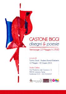 locandina A3 mostra Gastone Biggi 2