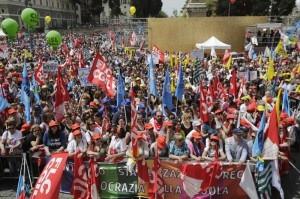 """Roma, manifestazione contro la riforma della """"Buona scuola"""""""