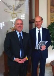 Lo Bello con Algieri nella recente visita a Cosenza