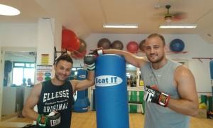 Boxer Francesco Pianeta al Centro Sport & Fitness con Arcangelo Conocchia