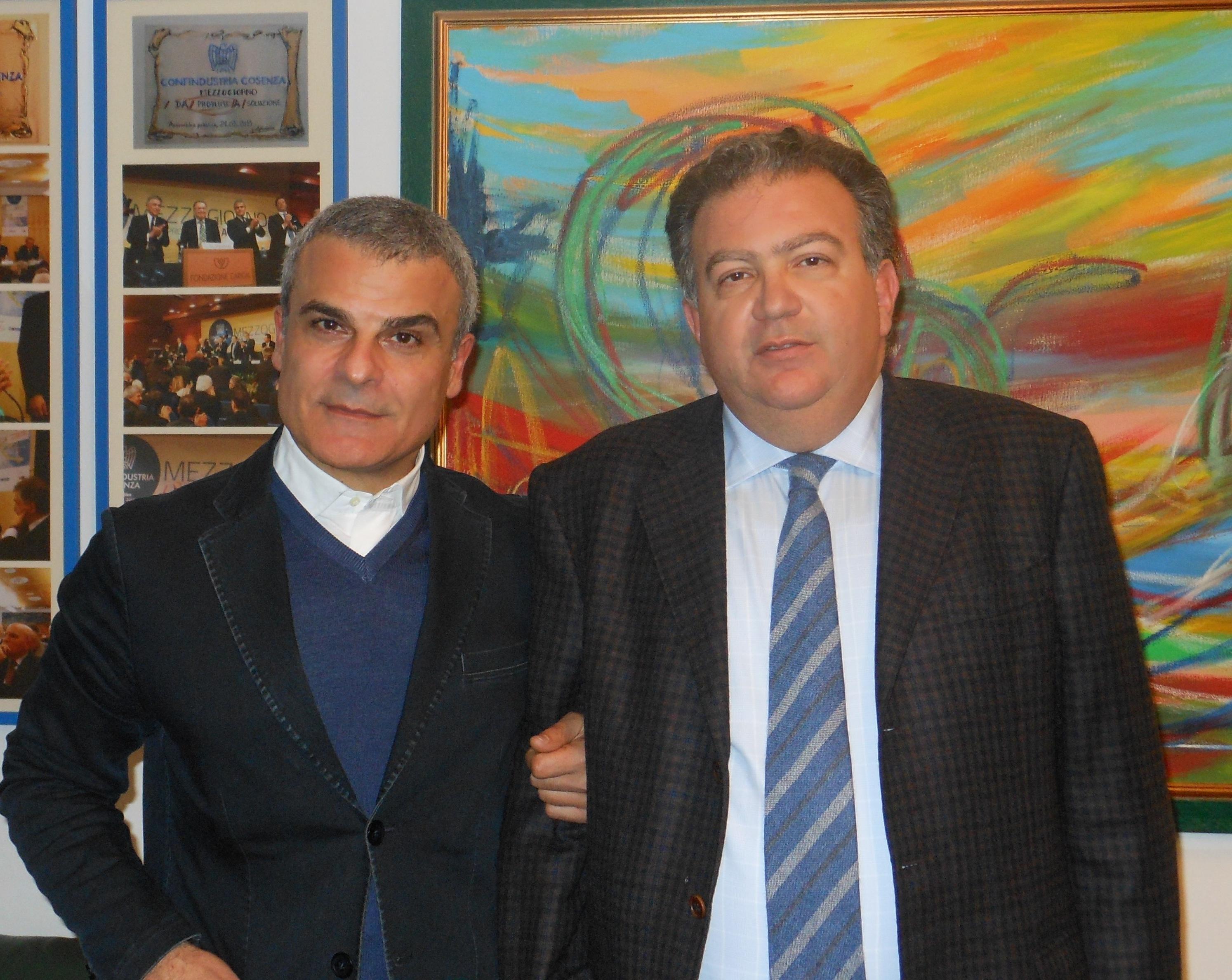da sinistra i Presidenti Mazzuca e Perciaccante
