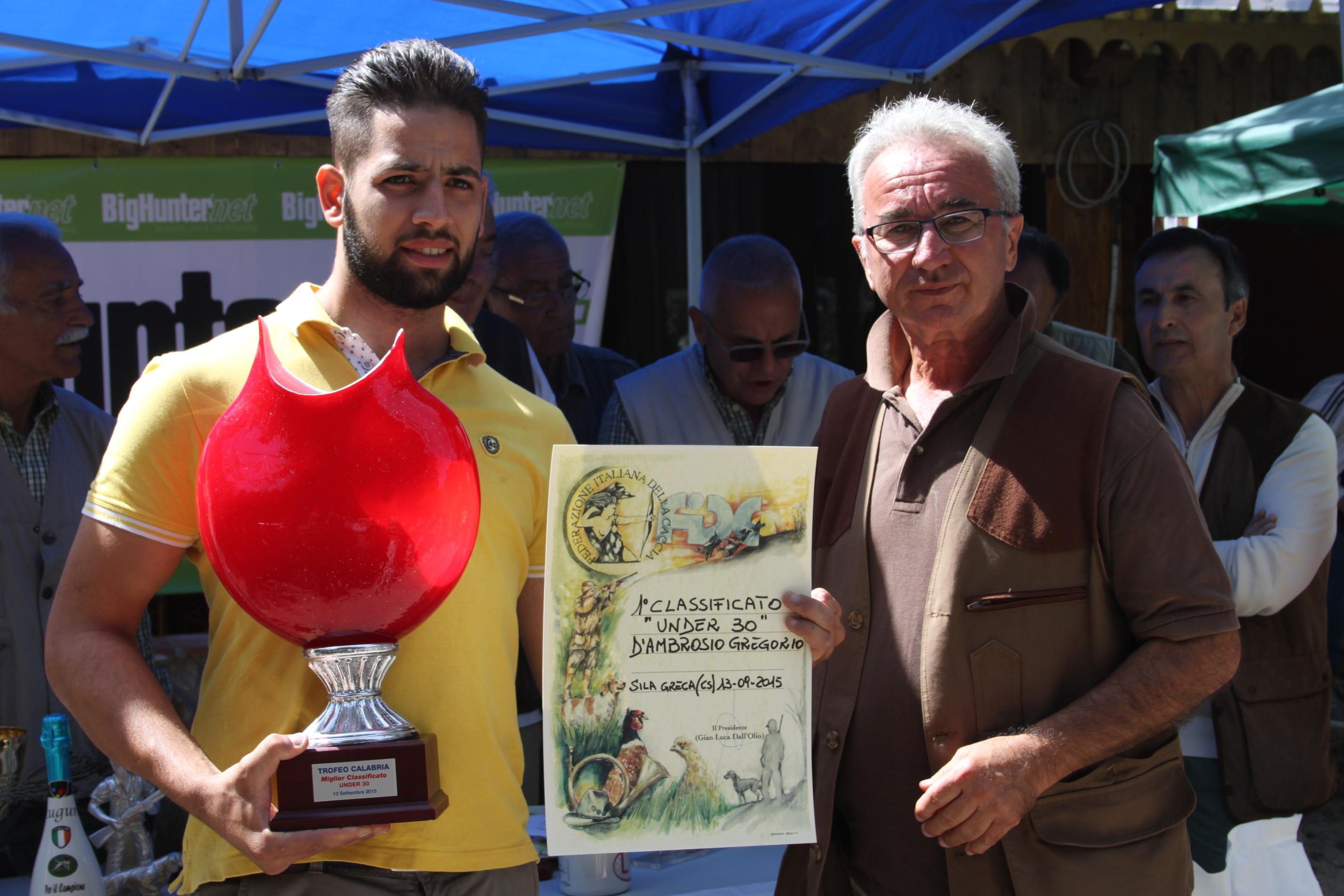 La premiazione di Gregorio D'Ambrosio