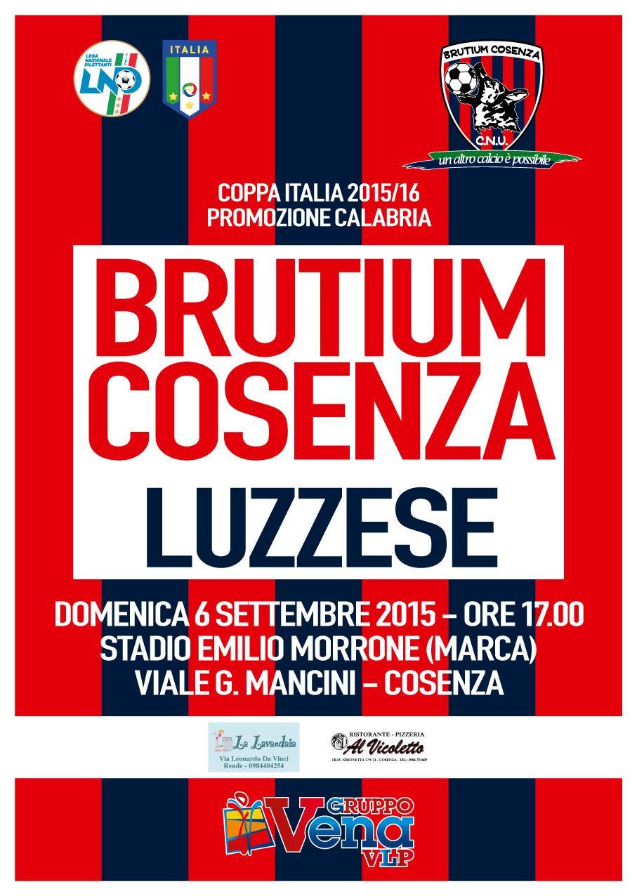 Locandina Brutium – Luzzese c.i.