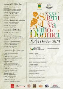 Programma manifestazione sapori d'autunno