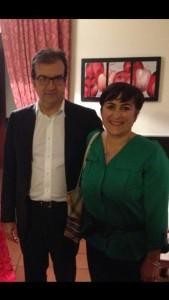 Dorella Zinga insieme a Mario Occhiuto