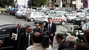 Ministro Orlando arriva a tribunale Lamezia Terme