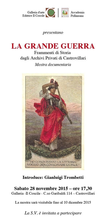 Gianluigi Trombetti – Invito – LA GRANDE GUERRA-01