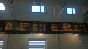 I ritardi segnalati questa mattina alla stazione di Paola