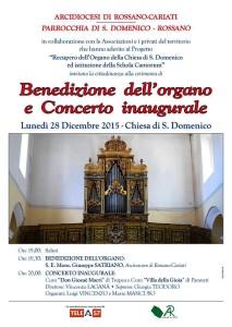 Cerimonia Benedizione Organo S. Domenico Rossano