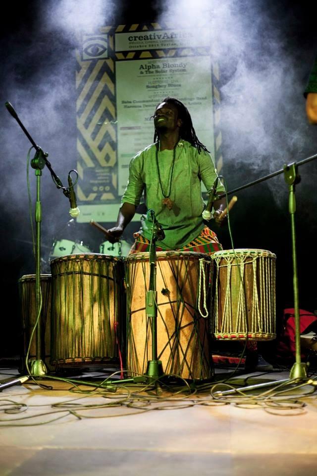 il percussionista moussa ndao