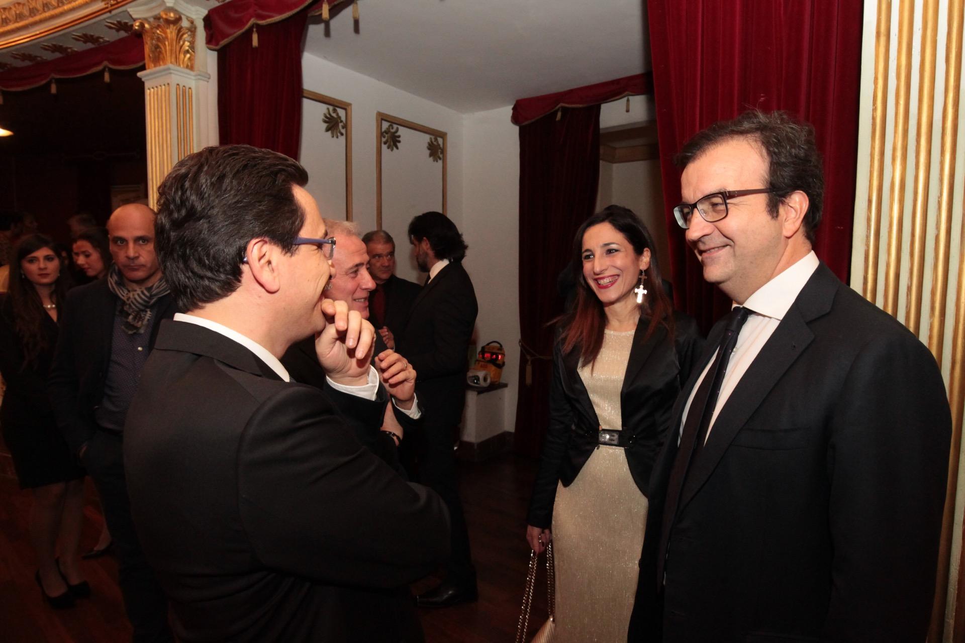 il sindaco occhiuto con il direttore artistico parisi