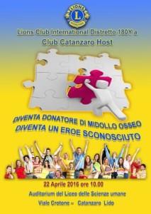 Donazione midollo osseo Lions Club Host Catanzaro