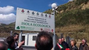 Inaugurazione isola ecologica Mendicino