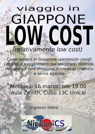 locandina seminario giappone low cost
