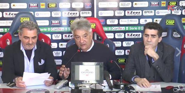 Conferenza stampa F.c. crotone