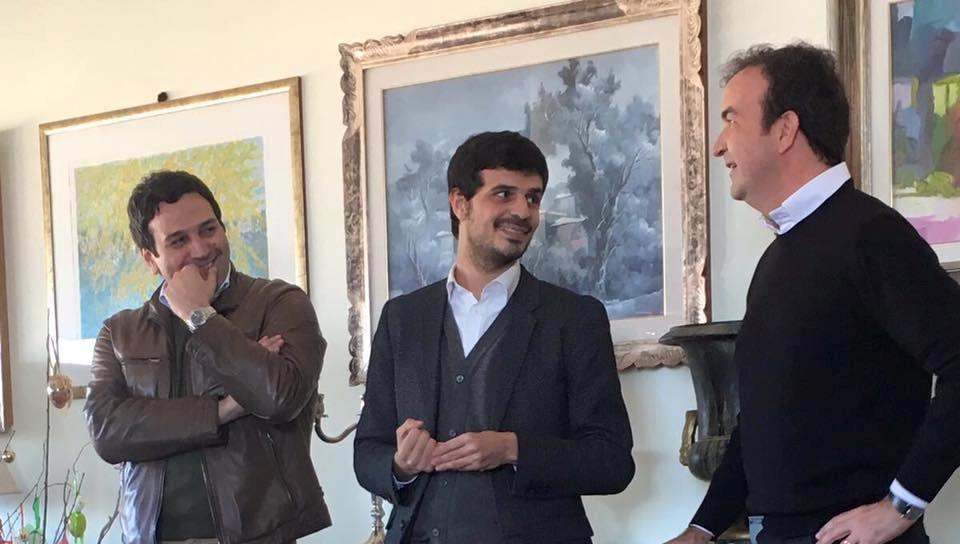 Fausto Orsomarso con Mario Occhiuto e il candidato Giuseppe D'Ippolito