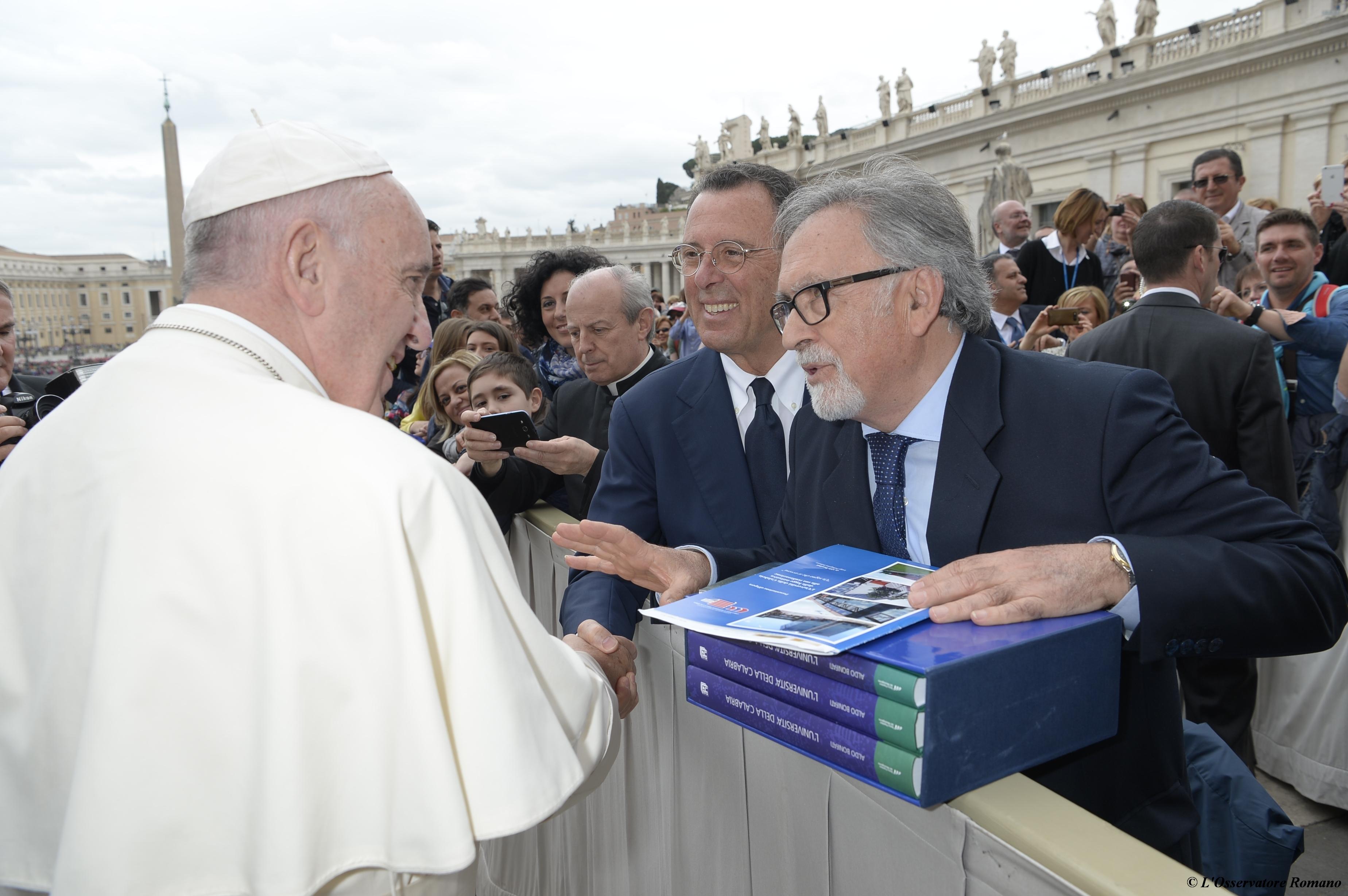 Foto incontro Papa Francesco