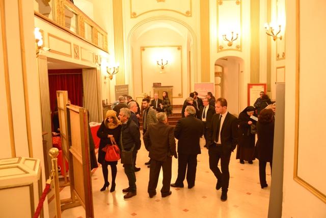 Il foyer prima dello spettacolo