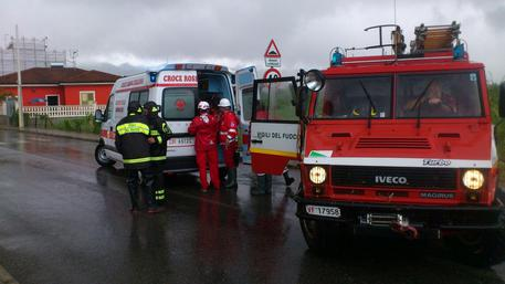 Incendio ambulanze Cri Reggio