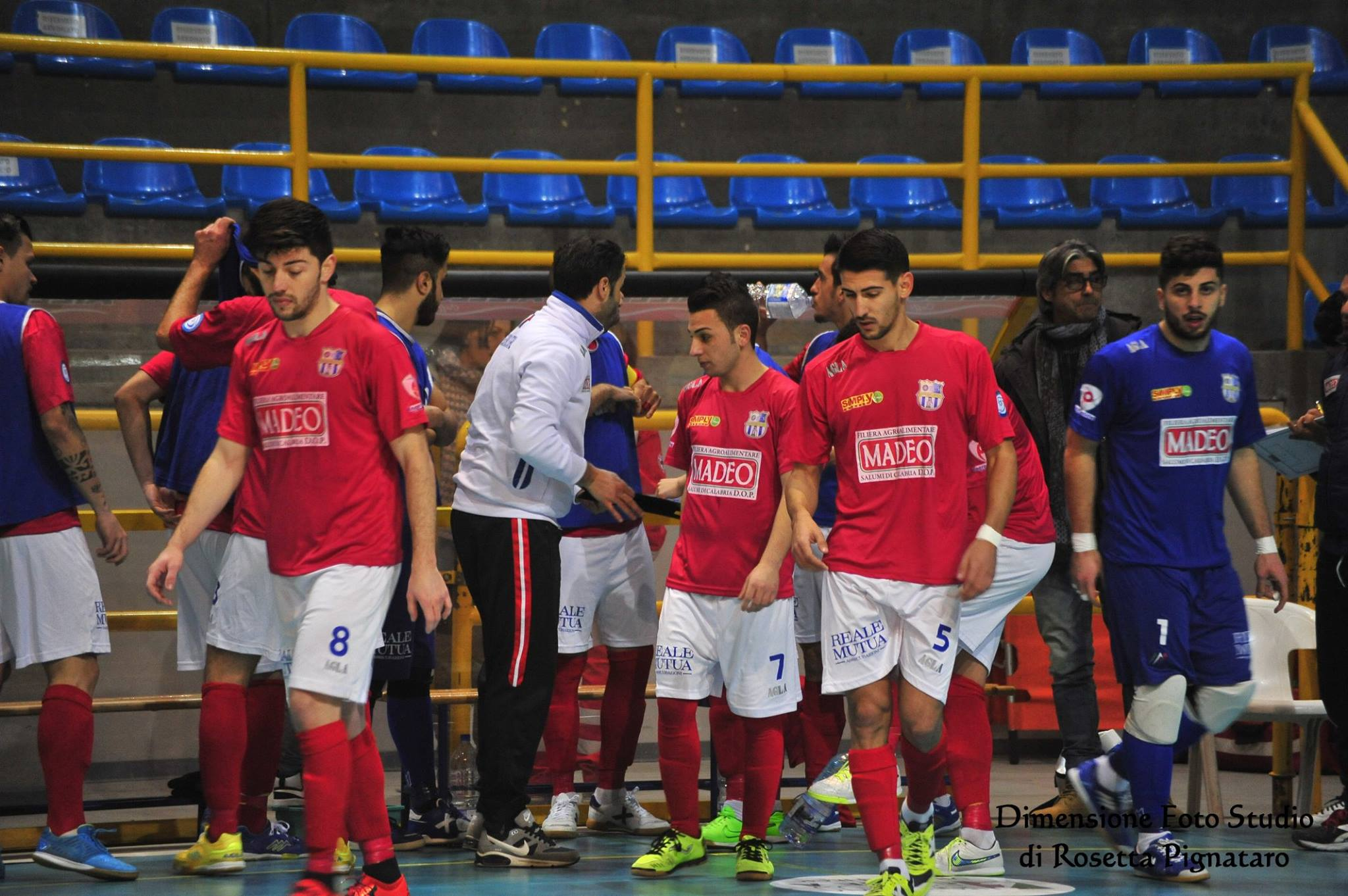 Ingresso in campo Corigliano Futsal