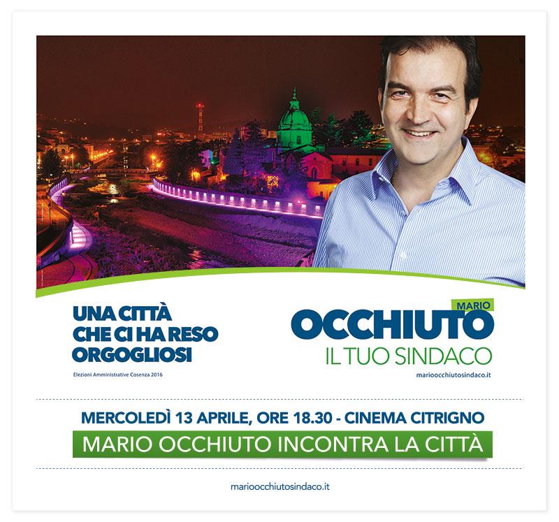 Mario Occhiuto incontra la città