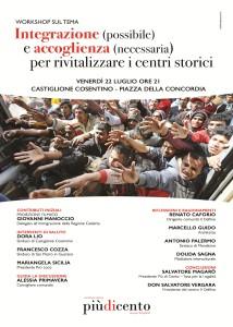 Locandina workshop Castiglione Cosentino