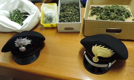 Droga sequestrata dai carabinieri a Pieve di Bono