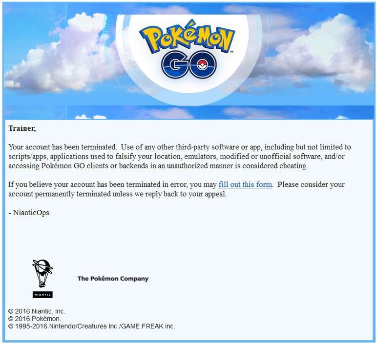 email niantic pokemon go