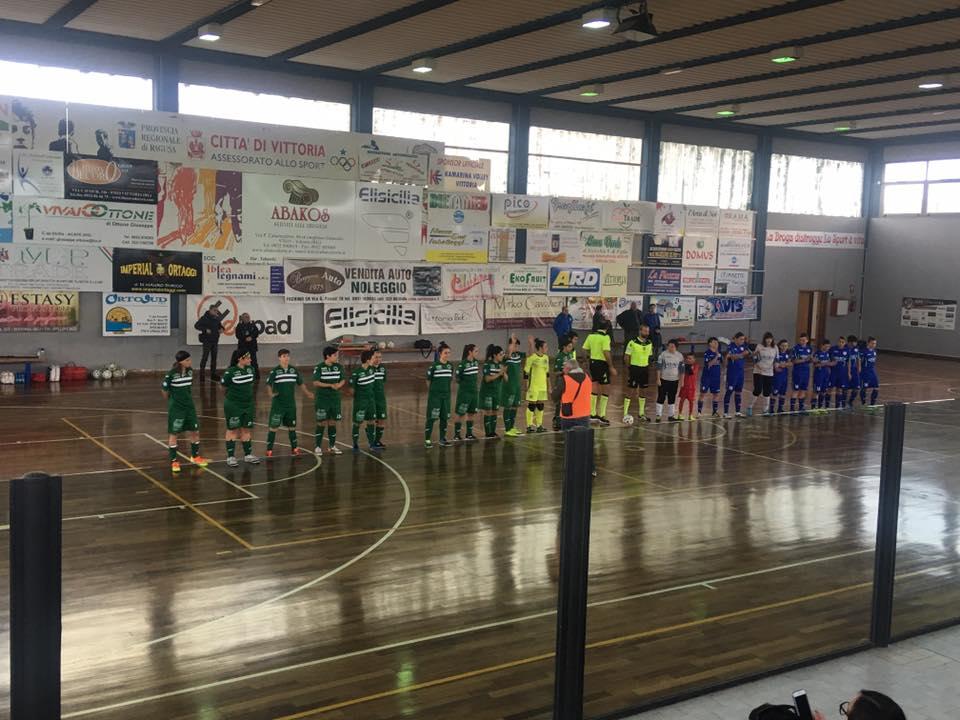 Vittoria-Royal 1-1 squadre schierate ad inizio gara