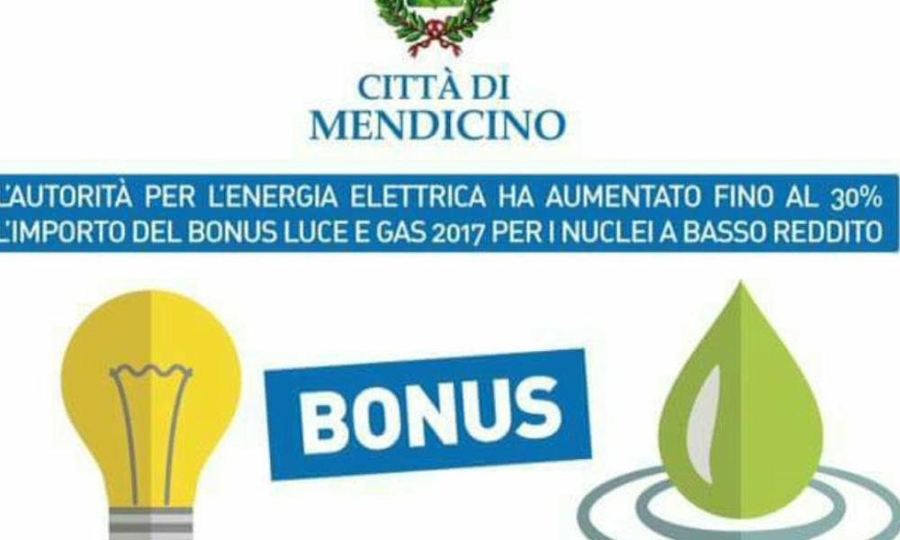 Mendicino bonus gas e luce per le famiglie a basso reddito for Bonus luce e gas scadenza