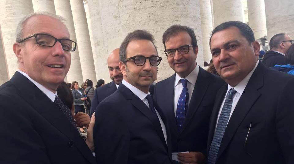Occhiuto e consiglieri in Vaticano