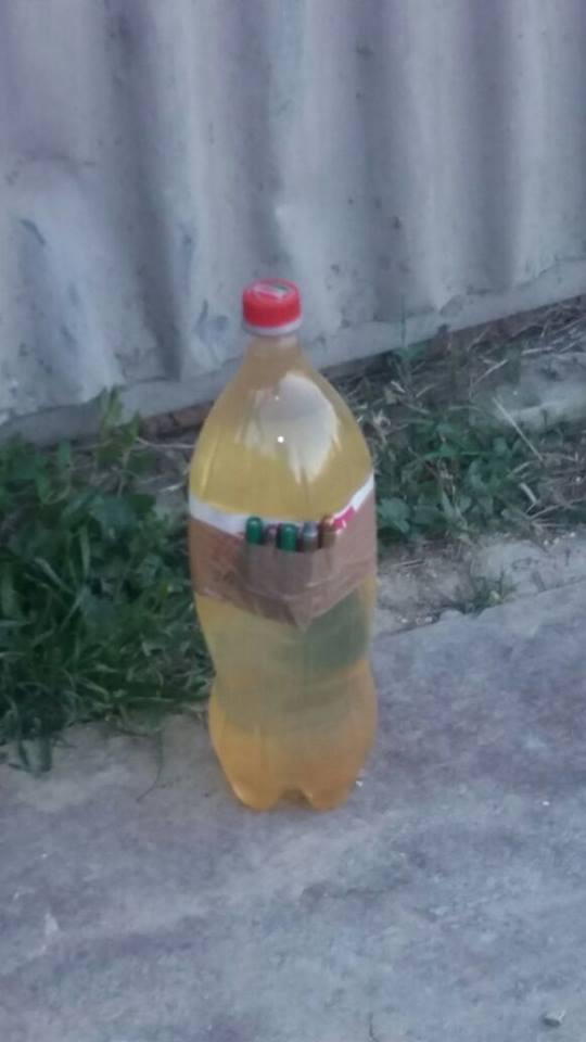 Bottiglia con proiettili