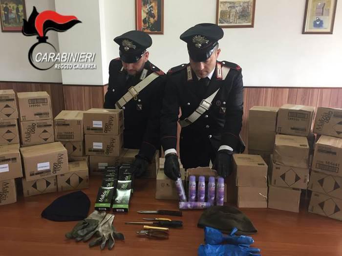 Un arresto dei carabinieri per furto