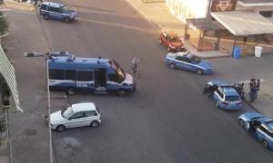 Controlli polizia via Popilia