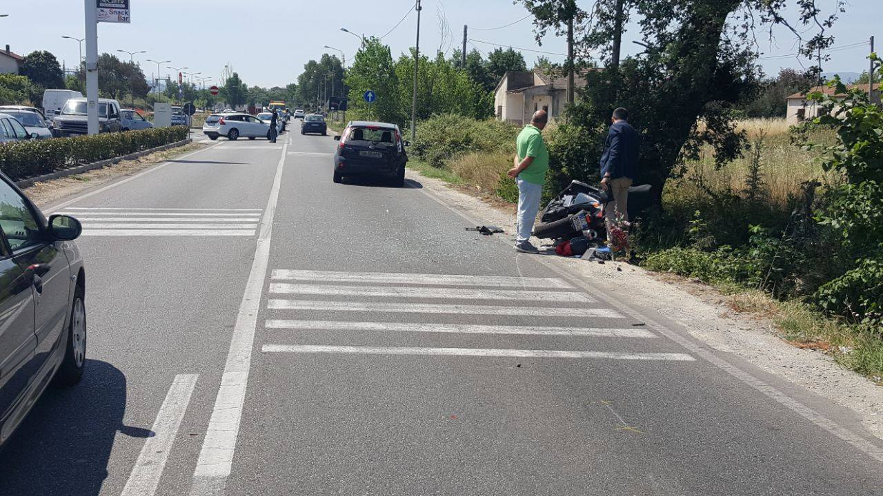 Incidente con scooter