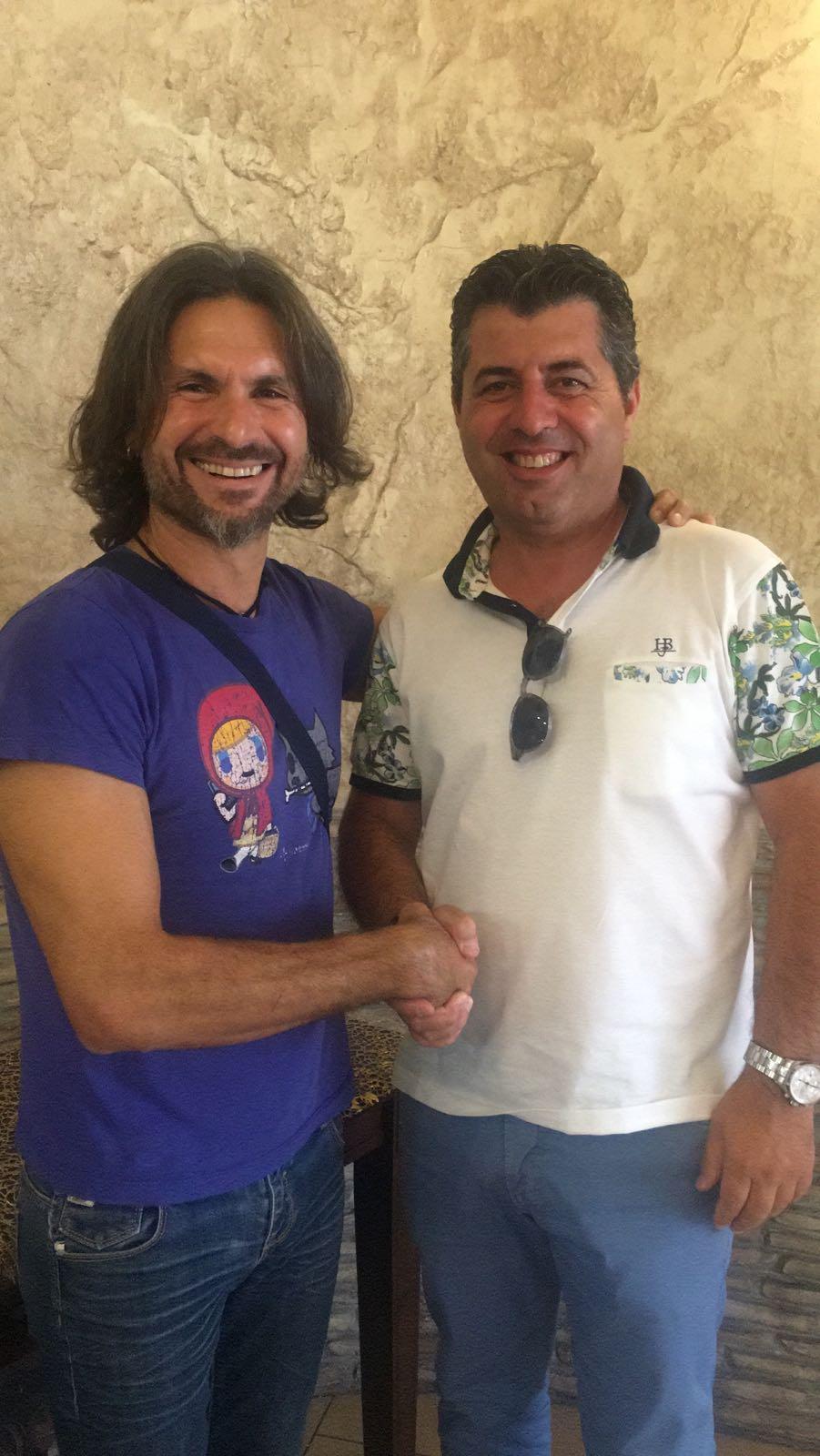 Mister Ragona (a sx) col vice pres. Chirico