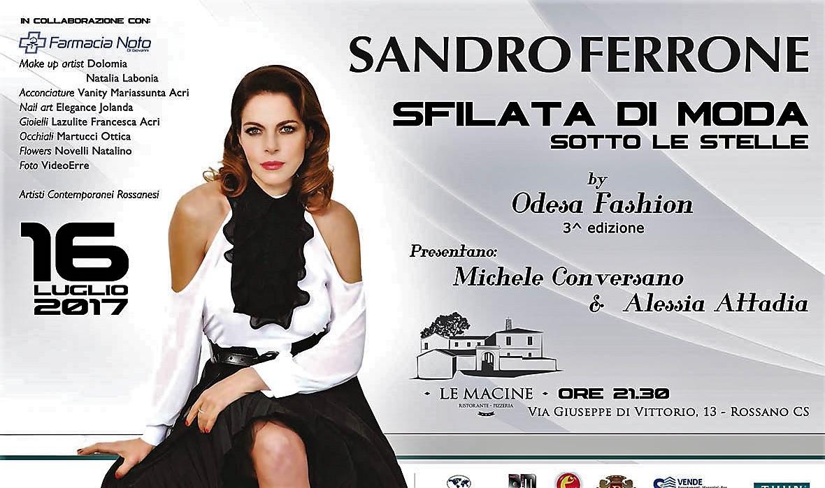 Sfilata di moda di Sandro Ferrone sotto le stelle