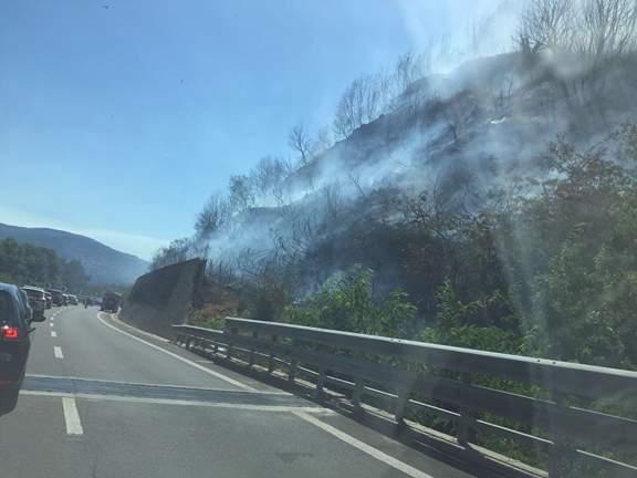 Incendio in A2