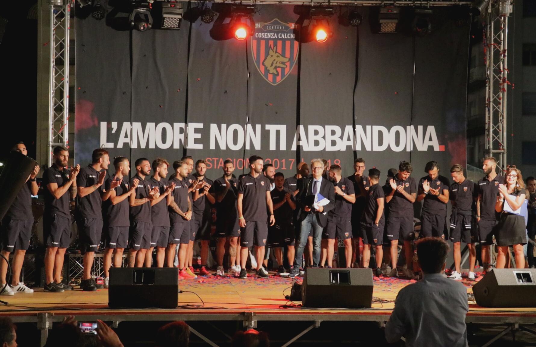 Presentazione Cosenza Calcio