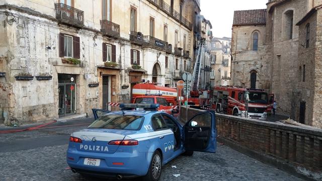 Incendio centro storico di Cosenza