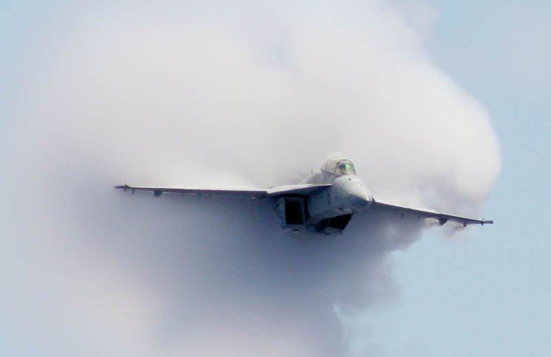 boato, aereo militare